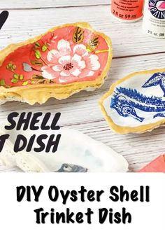 Make trinket dishes out of oyster shells and napkins with this diy. video knutselen DIY Oyster Trinket Dish Tutorial - Crafting on the Fly Seashell Projects, Seashell Crafts, Beach Crafts, Crafts To Do, Crafts For Kids, Diy Crafts, Seashell Art, Oyster Shell Crafts, Oyster Shells