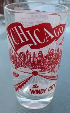 Chicago Windy City Hazel Atlas Drinking Glass