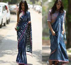 Designer: Anubha Jain, Denim saris. Love it.