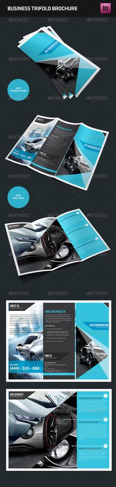 Trifold Brochure   #GraphicRiver         Professional, clean and modern Trifold…