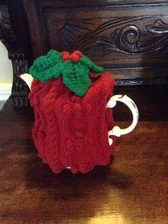 Christmas cosy Knitting Projects, Cosy, Mugs, Tableware, Christmas, Xmas, Dinnerware, Tumblers, Tablewares