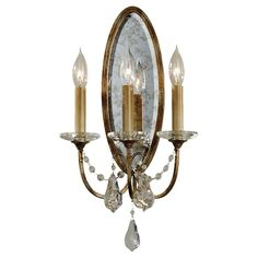Valentina Oxidized Bronze Three Light Sconce Feiss 3 Lights Or More Wall Sconces Wall Ligh