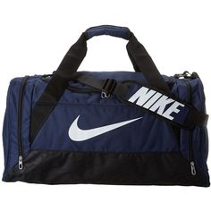 4570a4537ec Nike Brasilia 6 Medium Duffel (Midnight Navy Black White) Duffel Bags  (33,505 KRW) ❤ liked on Polyvore featuring bags, luggage and duffle bags