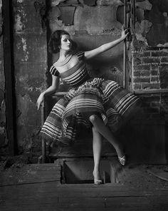 Harper's Bazaar, 1960  Photographer: Melvin Sokolsky  Model: Betsy Pickering