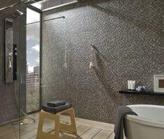 mosaico arizona antracite 31,6x90x1,01 - badkamer tegeltrends, Badkamer