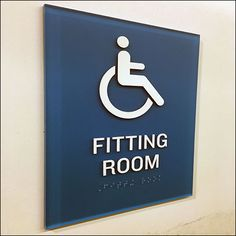 No ifs, ands, or buts about his Handicapped Fitting Room Designation Sign. It says Handicapped and Handicapped alone, no questions asked. Room Signs, Sign Design, Retail, Navy, Bottle, Hale Navy, Flask, Shops, Old Navy