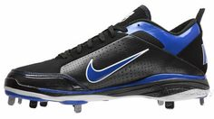Nike Air Show Elite II 2 Baseball Cleats With Metal Studs, Black & Blue, Mens Size 8, NEW