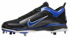 Nike Air Show Elite II 2 Baseball Cleats With Metal Studs, Black & Blue,