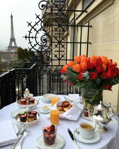 Good morning! Breakfast with a view   Paris, France