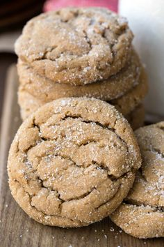 Soft Ginger Molasses Cookies Recipe - easy Christmas cookie - no chilling needed!