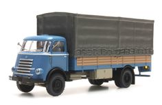 DAF flatbed truck, cab.'55, blue