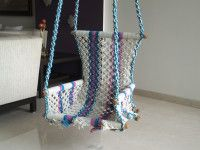 Buy single seater classic cotton rope swing made with intrinsic criss-cross pattern available at Minesh Engineering Corporation. Rope Swing, Porch Swings, Cross Patterns, Indian Home Decor, Cotton Rope, Mumbai, Classic, Stuff To Buy, Derby