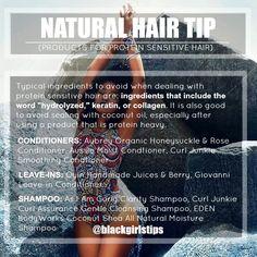 Black Girls Tips — Natural Hair Tips: Protein Sensitivity
