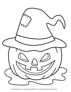 Halloween Coloring Pages - Easy Peasy and Fun Halloween Pictures To Draw, Easy Halloween Drawings, Sac Halloween, Halloween Coloring Pictures, Free Halloween Coloring Pages, Halloween Arts And Crafts, Fall Coloring Pages, Halloween Crafts For Toddlers, Coloring Pages For Boys