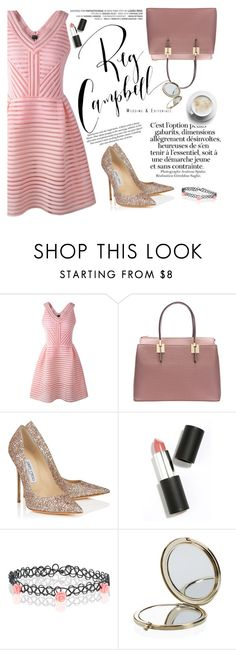 """Today I'm wearing pink"" by amilla-top ❤ liked on Polyvore featuring Jimmy Choo, H&M, Sigma Beauty, Accessorize and Henri Bendel"