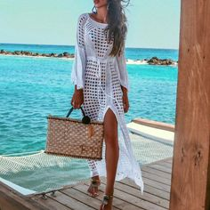 Women's Clothing Womens Summer Chiffon Semi-sheer Bikini Cover Up Boho Stripes Triangle Digital Printing Loose Dress Asymmetric Side Split Spare No Cost At Any Cost