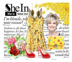 """""""SheIn 2"""" by dinka1-749 ❤ liked on Polyvore featuring WithChic and Christian Louboutin"""