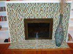 funky tile fireplace - Google Search