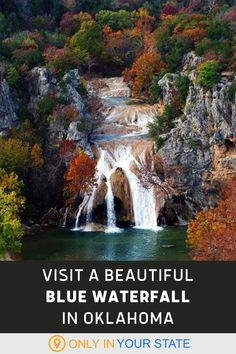 Travel to Turner Falls Park and discover the tallest waterfall in Oklahoma. A perfect day trip destination with family or friends, the water color ranges from crystal blue to teal. Best in the summer and fall months, this park offers photoshoot opportunities, a thrilling zipline, natural swimming hole, and overnight tent and cabin camping. Oklahoma Waterfalls, Turner Falls, Falls Park, Oklahoma Usa, Fall Months, Autumn Park, Hidden Beach, Local Attractions, Swimming Holes