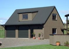 Customkit Barns, Barn Houses, Kitset Homes & Stunning Kitset Natural Wooden Buildings that blend beautifully into the New Zealand landscape New Zealand Landscape, Black Barn, Wooden Buildings, Indoor Outdoor Living, Barn Houses, Brick, Sweet Home, Shed, Cottage