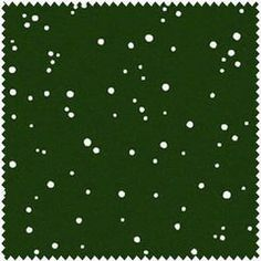 Christmas Classics, White Snow on Dark Christmas Green, Maywood (By Half Yard)