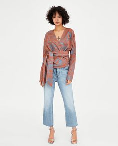 ZARA - WOMAN - SHIMMERY TOP WITH BELT