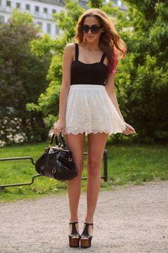 summer classic: white/black