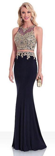 44a9f30f4f8  111.29  Unique Spandex Jewel Neckline Sheath Column Evening Dress With  Lace Appliques   Hot-fix Rhinestones