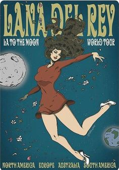 Lana Del Rey #art by Phatboy Art #LA_to_the_Moon_Tour
