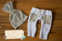 Hannah Drews Photography : DIY: Newborn Photography Prop- Upcycled Pants and Hat Set Tutorial - Chicago Newborn Photographer