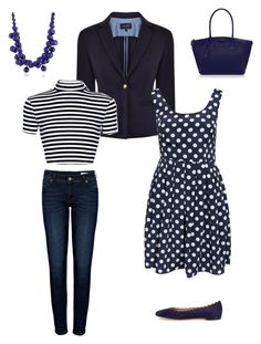 """""""Classic staples"""" by jofobbester ❤ liked on Polyvore featuring Armani Jeans, Anine Bing, ONLY, Chloé, Kate Spade and Kenneth Jay Lane"""