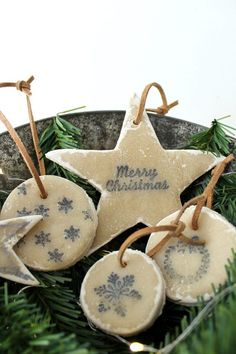 This holiday season, make no-bake salt dough ornaments using basic household ingredients. They're great to make with the whole family!