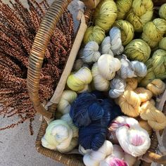 """114 Likes, 2 Comments - Elaine Tom (@elainetom) on Instagram: """"The sun is out again! Time to start photographing these to list in the #etsyshop #handdyedyarn…"""""""