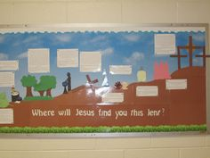 Lent Bulletin Board idea | Faith Formation | Pinterest ...