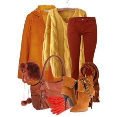 Autumn colours by helenrosemay on Polyvore