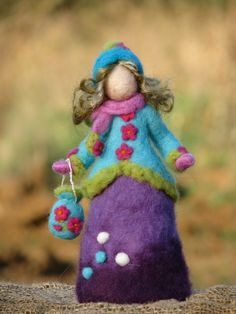 Needle felted doll waldorf inspired winter time by Made4uByMagic