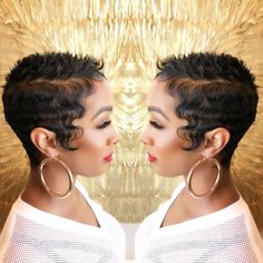 Very sexy cut! Spring I can distracted from my fall bob. Short Sassy Hair, Cute Hairstyles For Short Hair, Pixie Hairstyles, Short Hair Cuts, Curly Hair Styles, Natural Hair Styles, Love Hair, Gorgeous Hair, Hair Affair