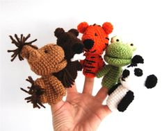 5 jungle finger puppet crocheted camel beaver or by crochAndi, $40.00