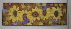 Sunflower Table Runner Hand Painted Art Quilt by paintedquilts, $355.00
