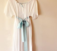 Antique Edwardian nightgown white cotton dressing by whichgoose, $48.00