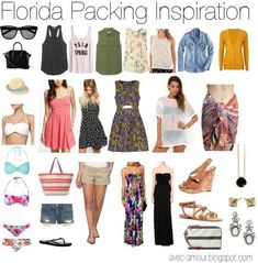 Pack for Florida in a Carry On /  Beach Vacation in a Carry on #Floridavacationsummer