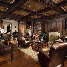 Home Office Photos Old World Tuscan Design, Pictures, Remodel, Decor and Ideas w. - Home Decor For US False Ceiling Design, Home Office Design, Home Interior Design, Library Design, Diy Interior, Home Office Inspiration, Office Ideas, Office Setup, Mediterranean Home Decor