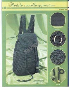 ¡¡ Hola mis innumerables y queridas amigas!!!, les traigo la última mochila que tejí, es de Ale hecha de algodón color beige, las aplicacion...