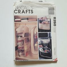 McCalls 8260 Closet Dorm Organizers Garment Bag Car Caddy Pattern UNCUT #McCalls
