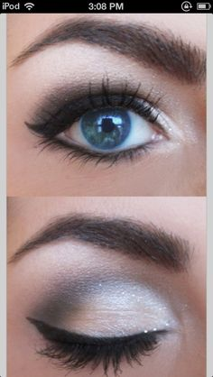 Blue eyed makeup