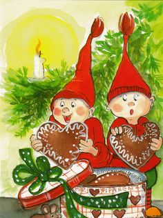 Postcrossing postcard from Finland Christmas Topper, Christmas Rock, Christmas Hearts, Magical Christmas, All Things Christmas, Illustration Noel, Christmas Illustration, Illustrations, Vintage Greeting Cards