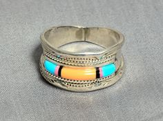 Men's Navajo Wedding Ring  Sterling by RubyInTheDustVintage, $175.00
