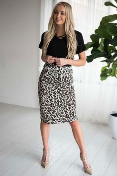 5c51a44cb 18 Best leopard pencil skirt images in 2019