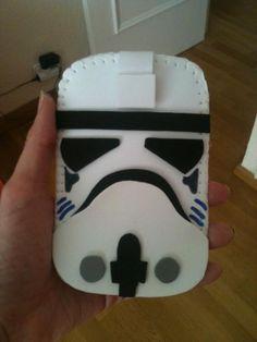Funda móvil Stormtropper goma eva/Stormtrooper mobile case with foam rubber