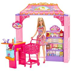 """Barbie Life in the Dreamhouse Grocery Store and Doll Playset -  Mattel - Toys""""R""""Us $34.99"""